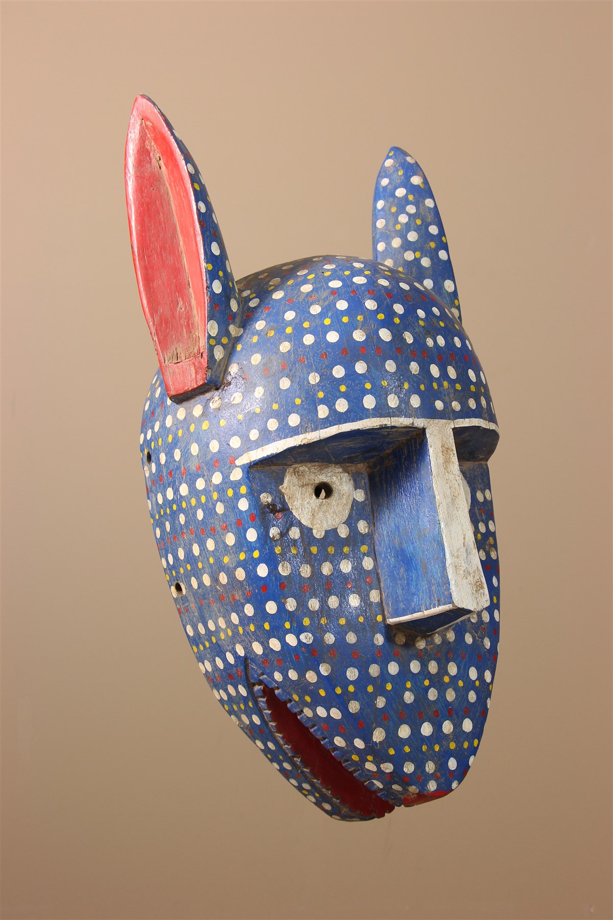 Masque facial Bozo - Déco africaine - Art africain traditionnel