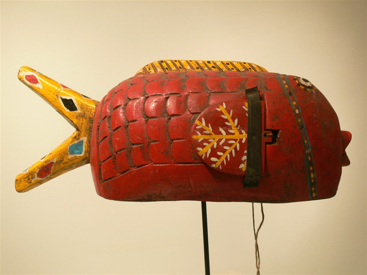 Poisson Bozo Rouge - Déco africaine - Art africain traditionnel