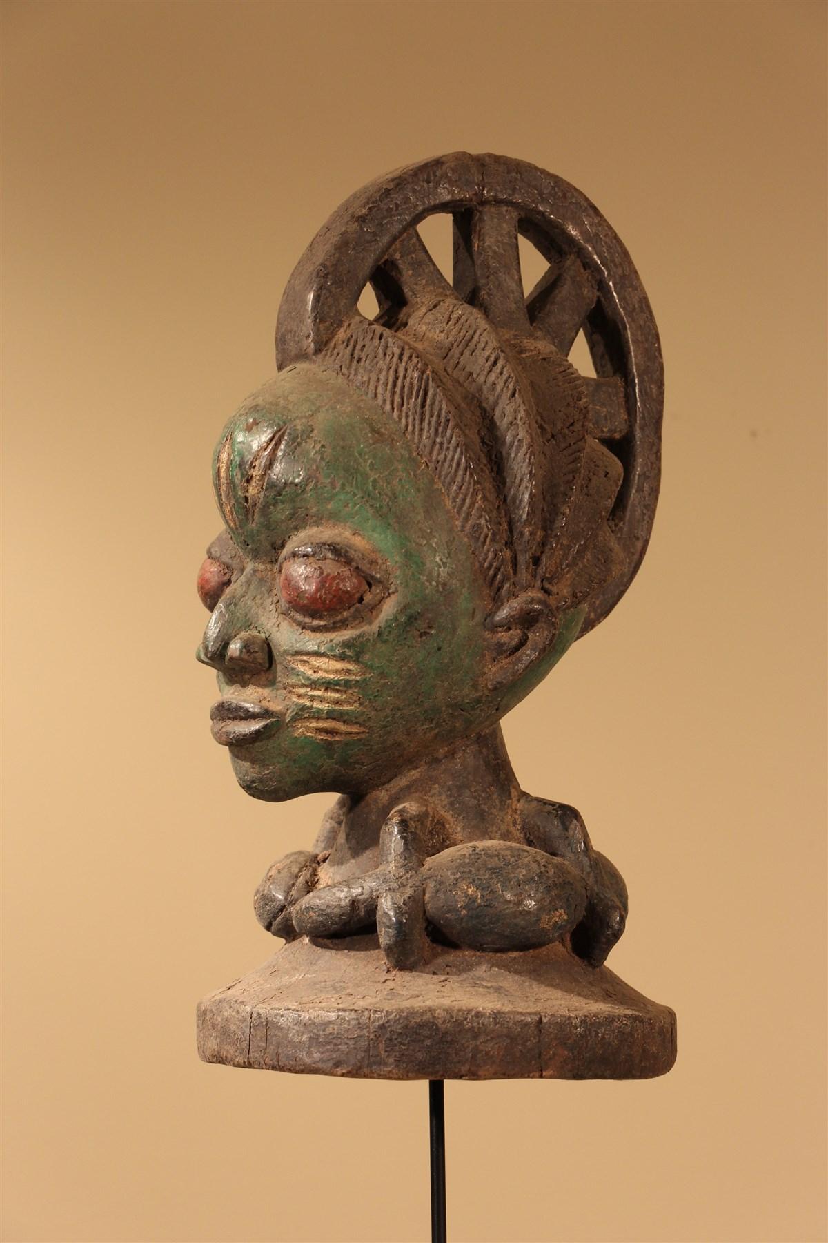 Masque cimier Yoruba - Déco africaine - Art africain traditionnel