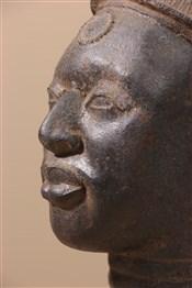 bronze africainTête bénin en bronze