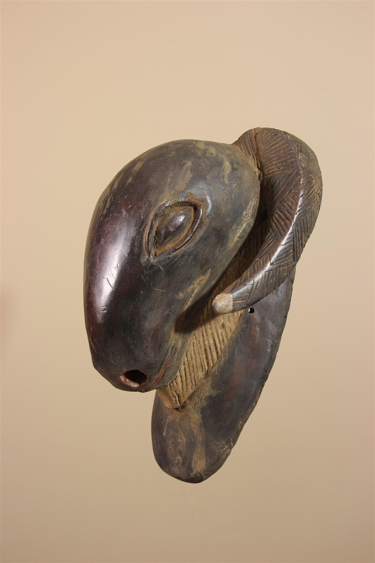 Grand masque bélier de Côte d'Ivoire - Déco africaine - Art africain traditionnel