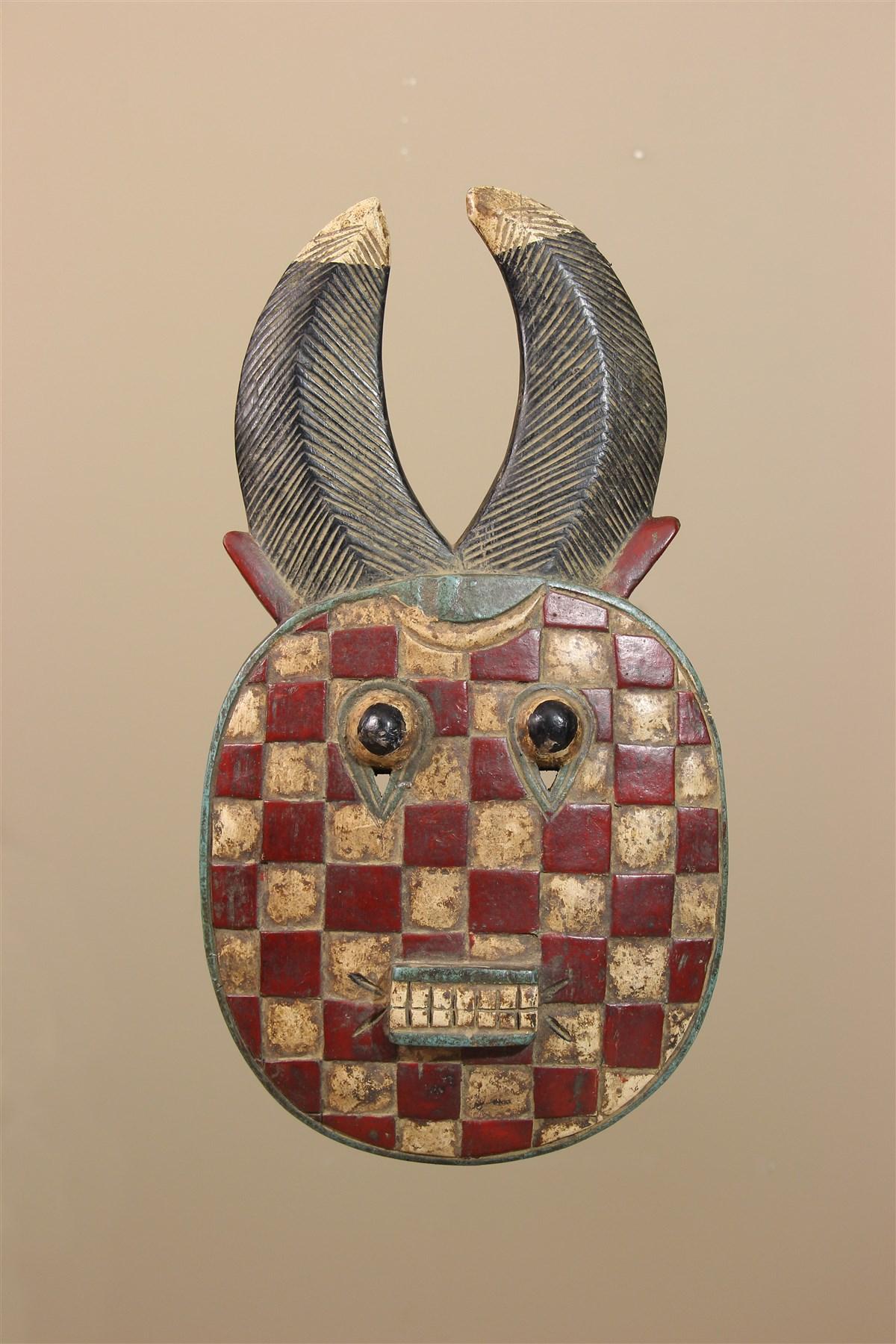 Masque  Baule, Baoulé de Côte d'Ivoire - Déco africaine - Art africain traditionnel