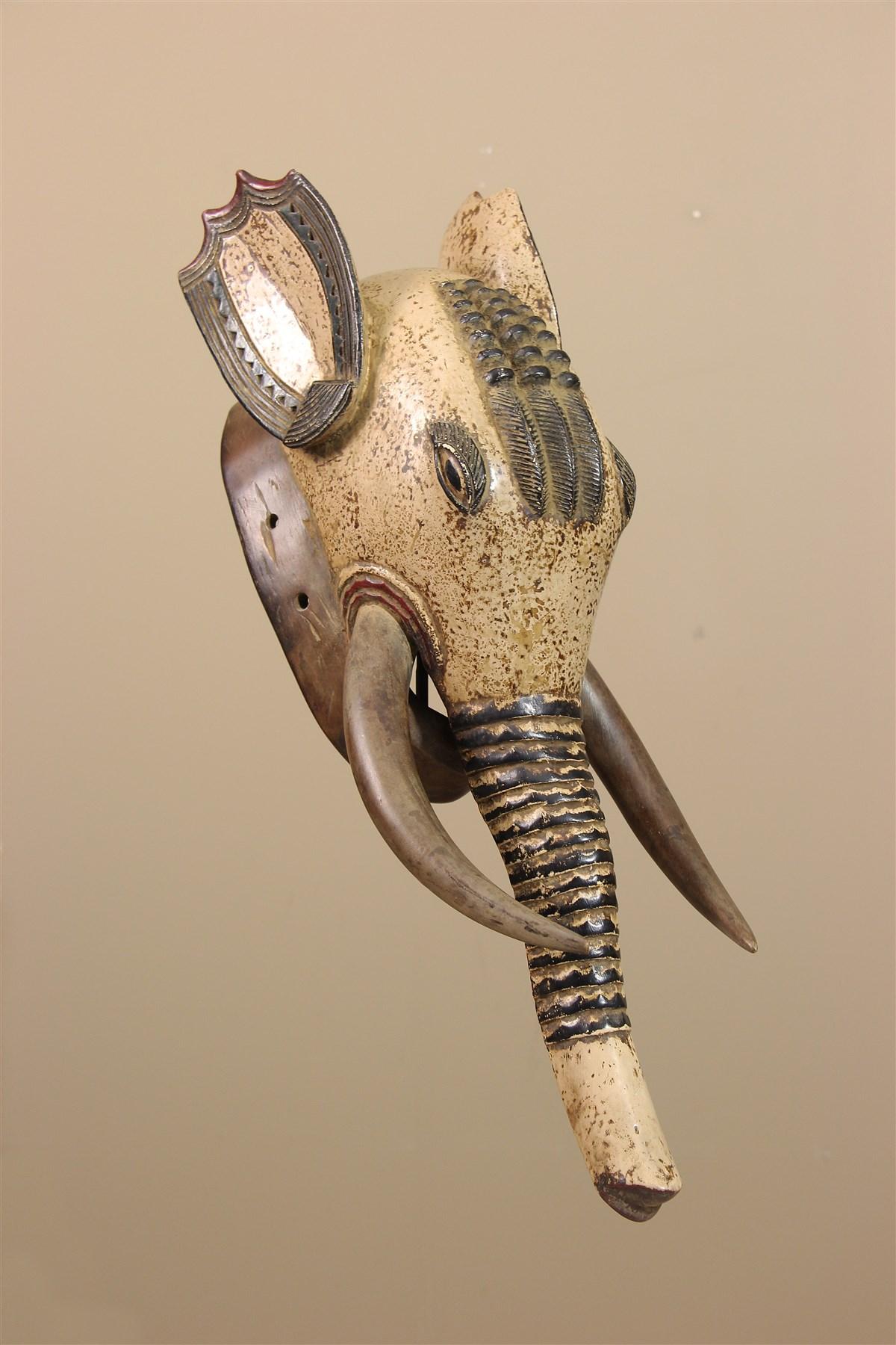 Masque éléphant de Côte d' Ivoire - Déco africaine - Art africain traditionnel