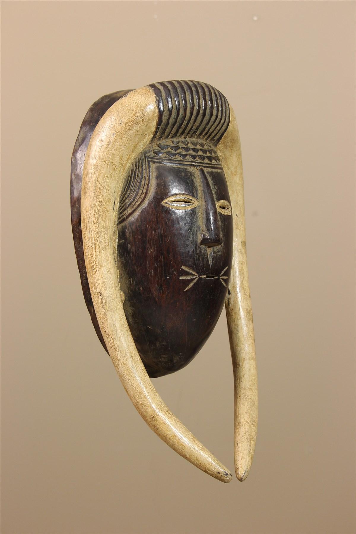 Masque Djimini Côte d'Ivoire - Déco africaine - Art africain traditionnel