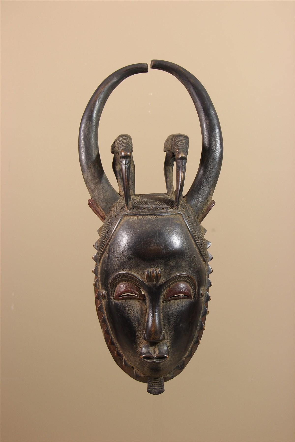 Masque de Côte d'Ivoire Baule - Déco africaine - Art africain traditionnel