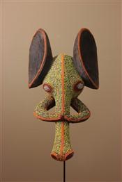 Masque africainMasque perlé éléphant Babanki