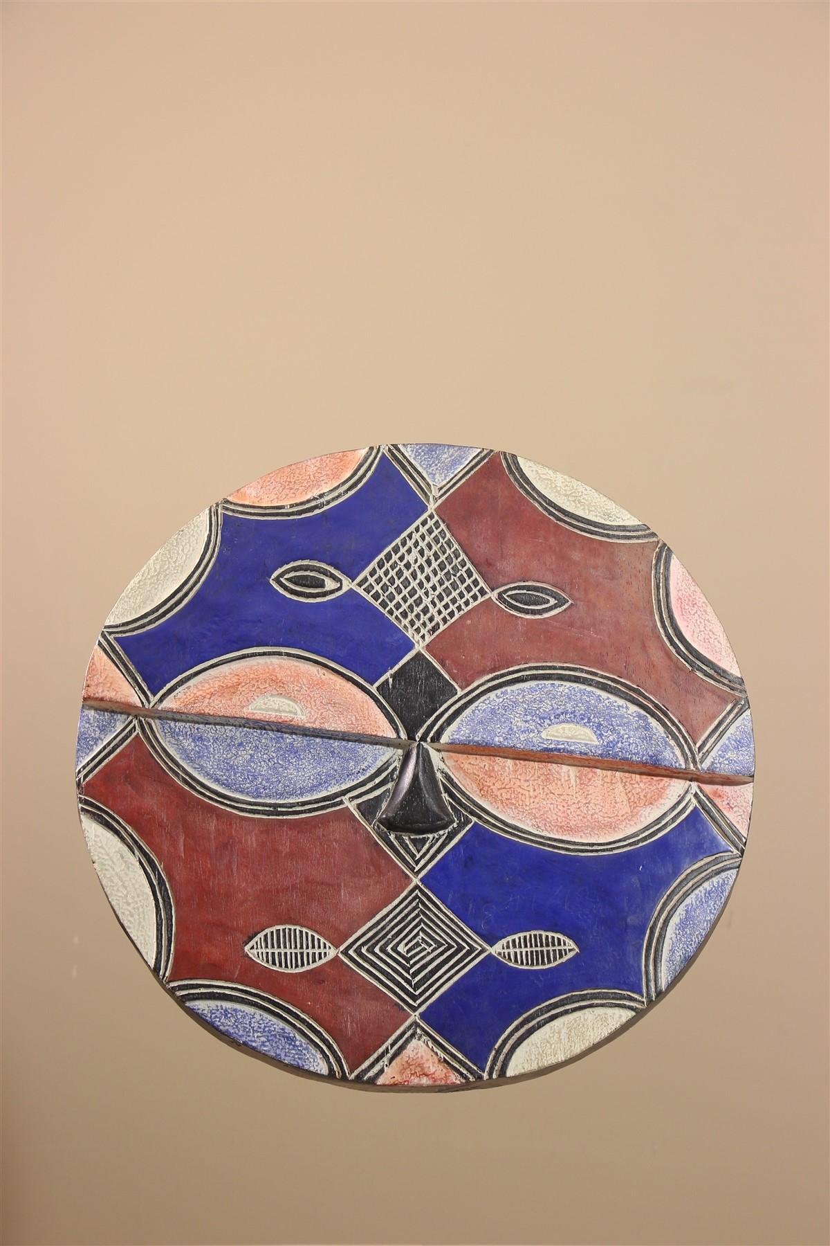Masque africain Teke Idumu - Déco africaine - Art africain traditionnel