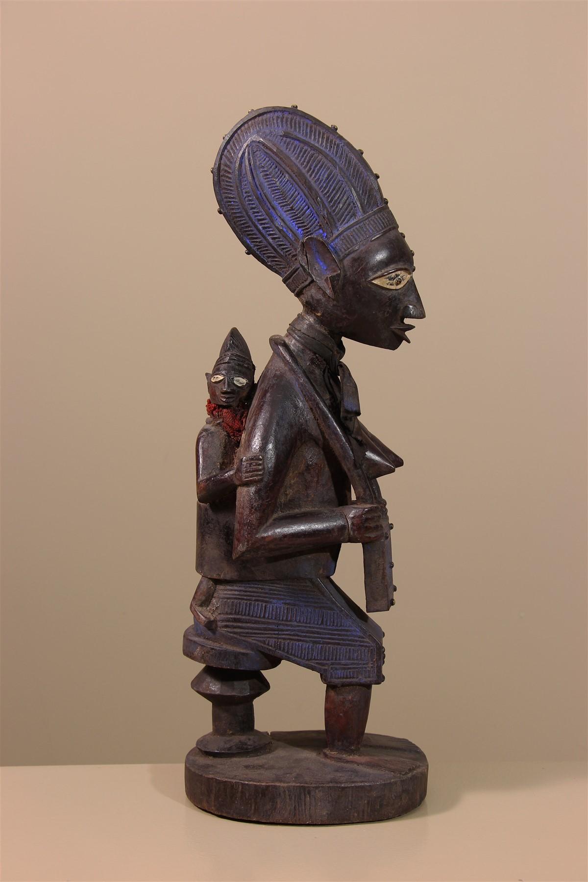 Statue de maternité Yoruba - Déco africaine - Art africain traditionnel