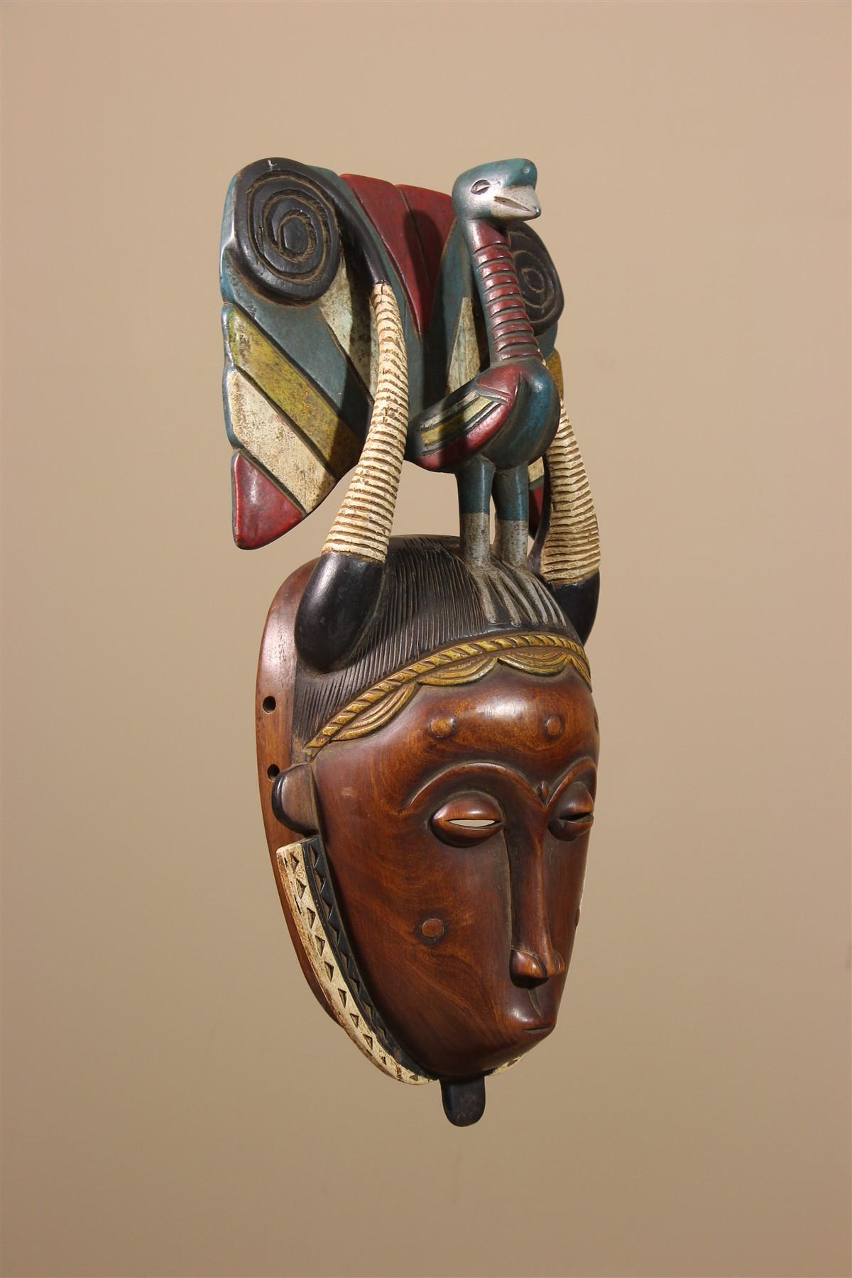 Masque Baoulé, Baule / Yaoure - Déco africaine - Art africain traditionnel