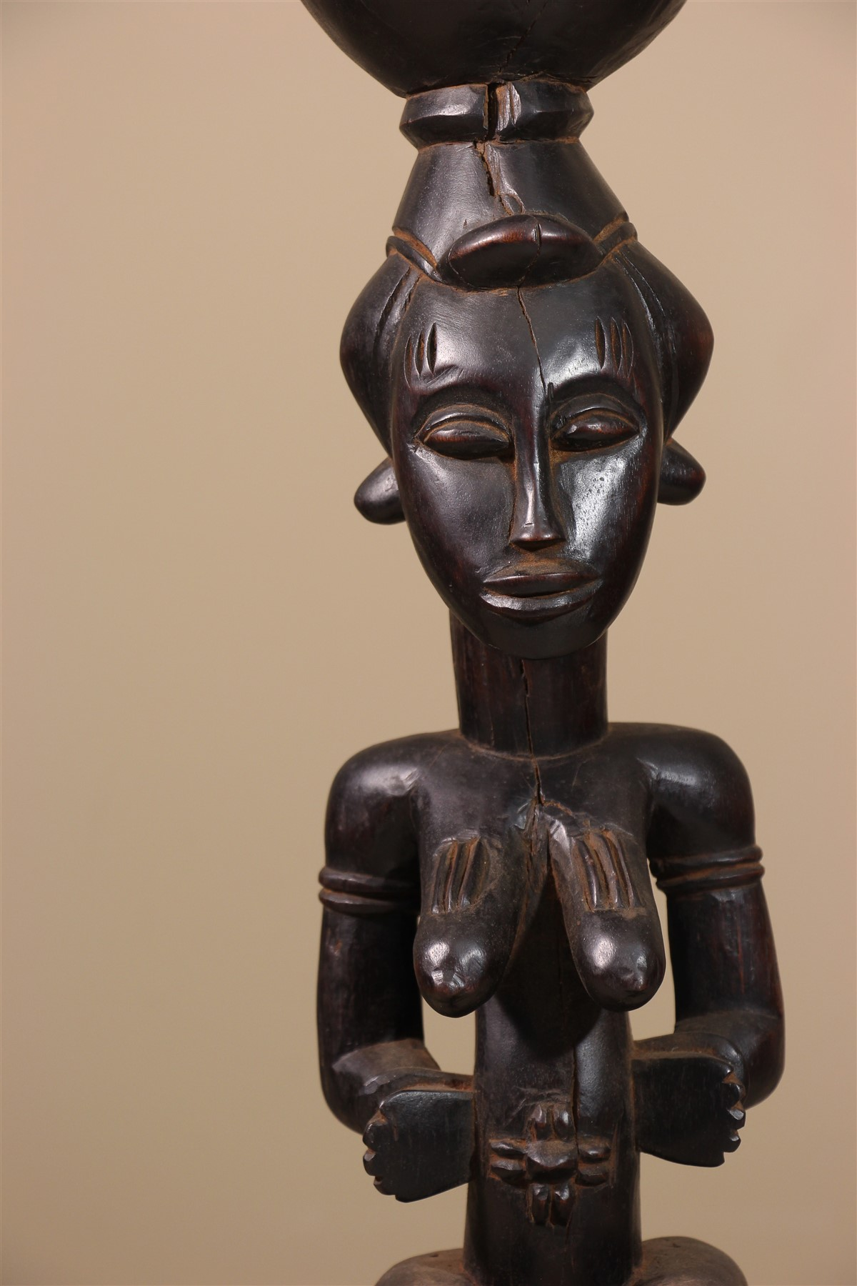 Statue africaine Senoufo cariatide - Déco africaine - Art africain traditionnel