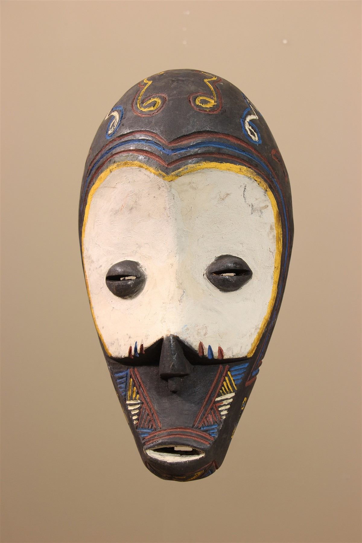 Masque africain Ngombe - Déco africaine - Art africain traditionnel