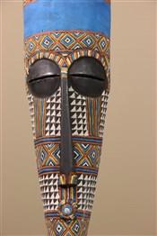 Masque africainGrand masque Kuba polychrome