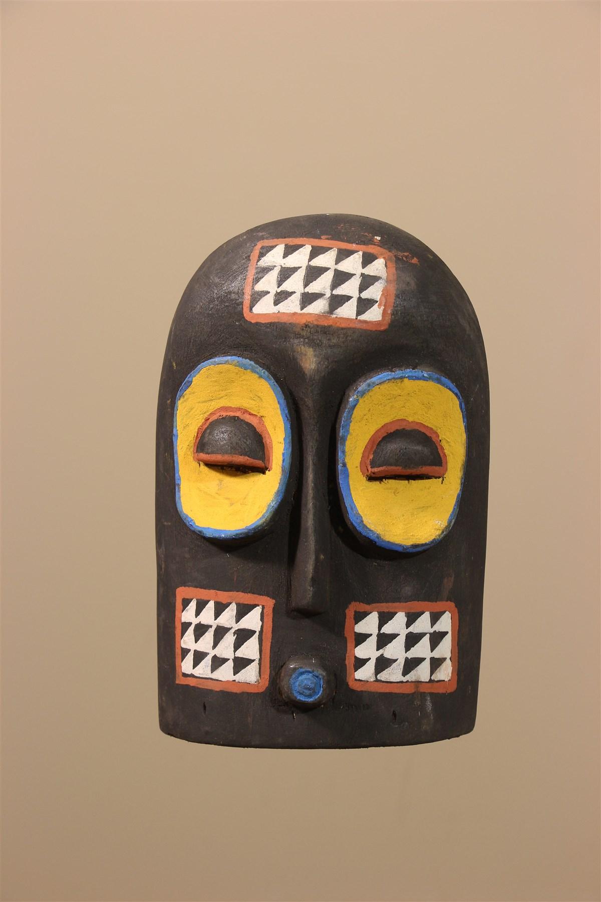 Petit masque Kuba - Déco africaine - Art africain traditionnel