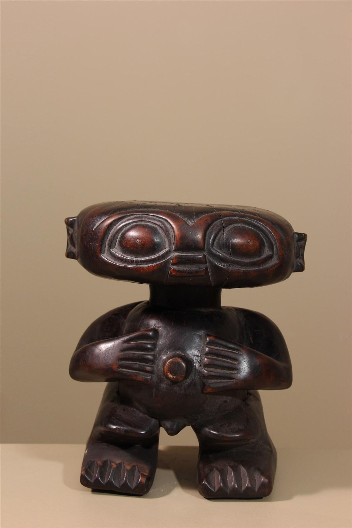 Tabouret Statue Pygmée Tikar