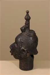 bronze africainTête Ifé du Nigeria en bronze