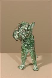 bronze africainFigure de léopard Bénin