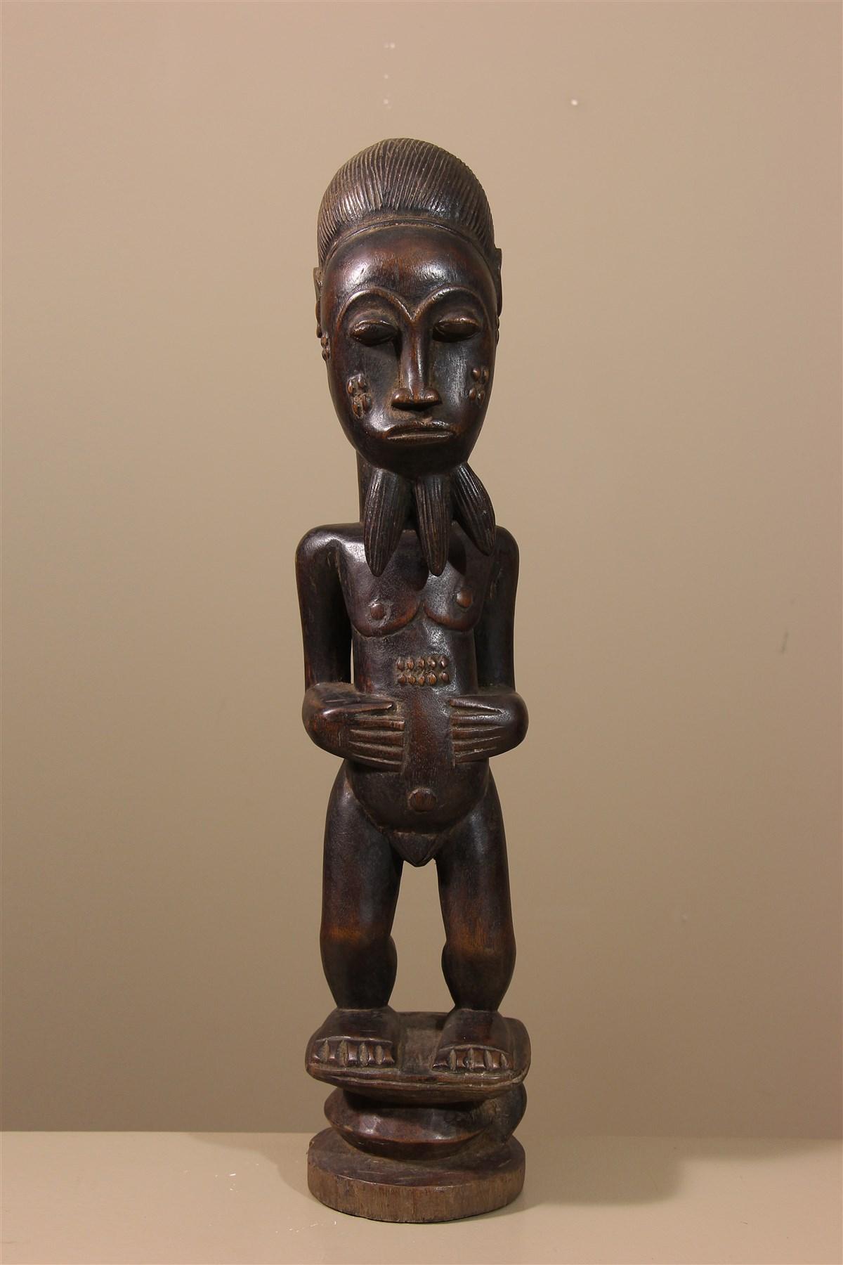 Statue de Côte d'Ivoire, Baoulé, Waka Sona - Déco africaine - Art africain traditionnel