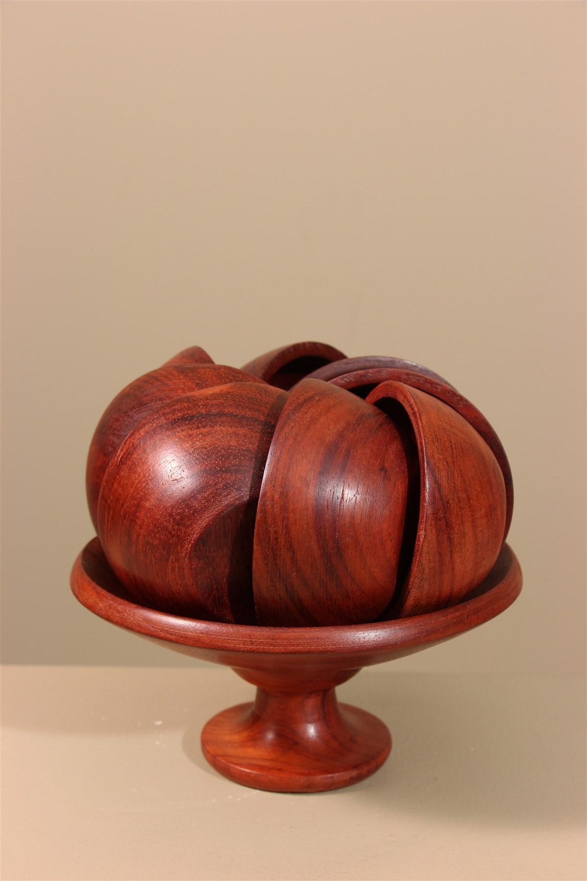 Set apéritif artisanat africain - Déco africaine - Art africain traditionnel